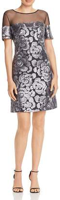 Tadashi Shoji Embroidered Floral Sequin Dress