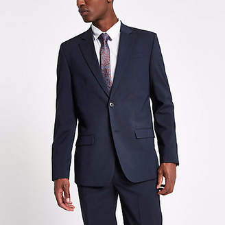 River Island Navy tailored suit jacket
