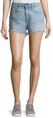 Alexander Wang Bite Light-Wash High-Rise Cutoff Denim Shorts