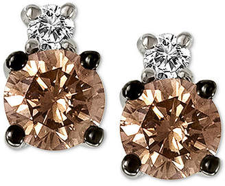 LeVian Le Vian Chocolatier Diamond Stud Earrings (1/3 ct. t.w.) in 14k White Gold
