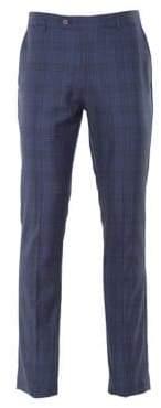 Paisley and Gray Windowpane Plaid Pants