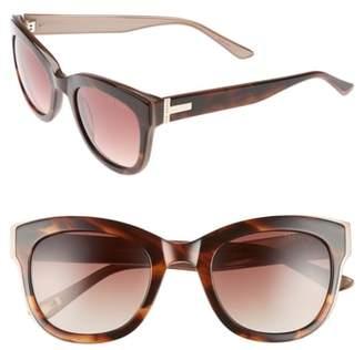 Ted Baker 51mm Square Cat Eye Sunglasses