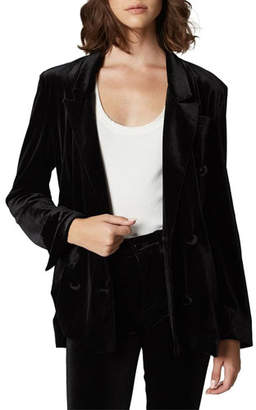 Blank NYC The Grand Dame Velvet Blazer Jacket