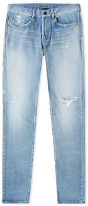 Saint Laurent Slim Fit Holes Jean