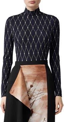 Burberry Printed Long-Sleeve Bodysuit