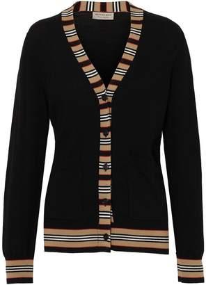 Burberry Icon stripe cardigan