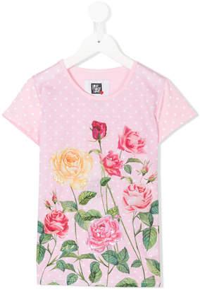 Love Made Love polka-dot floral T-shirt