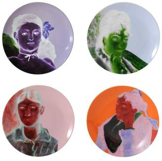 Bernardaud Portraits Impressionnistes Dinner Plates, Set of 4