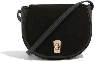 Next Womens Oasis Black Mini Me Suedette Bag
