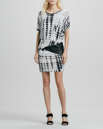 Young Fabulous & Broke Young Fabulous and Broke Annika Dress with Faux-Leather Trim