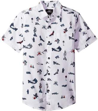 O'Neill Kids Squawker Short Sleeve Woven Top Boy's Clothing
