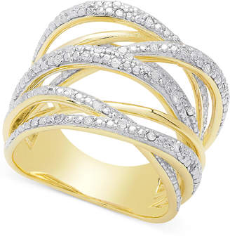 Townsend Victoria Diamond Orbital Ring (1/4 ct. t.w.) in Sterling Silver or 18k Rose or Yellow Gold-Plated Sterling Silver