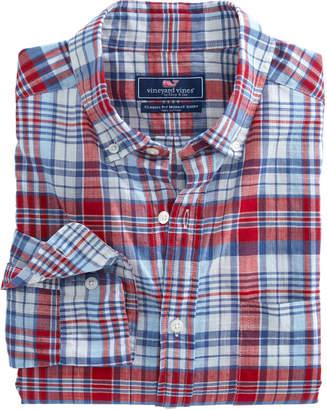 Vineyard Vines Firework Plaid Classic Tucker Shirt