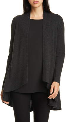 Eileen Fisher Angled Silk & Cashmere Cardigan
