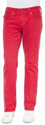 True Religion Ricky Slim-Fit Denim Jeans, Red