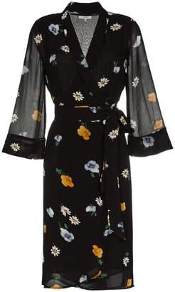 Ganni tie waist floral dress