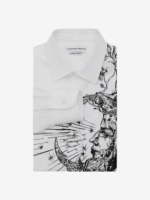 """Alexander McQueen """"Flower & Moon"""" Embroidered Shirt"""