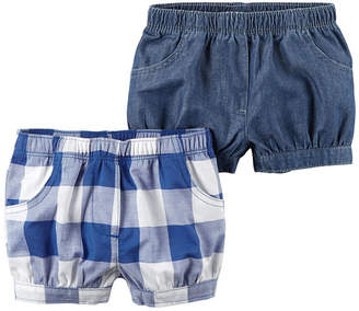 Carter's 2 Pack Bubble Shorts - Baby Girl NB-24M