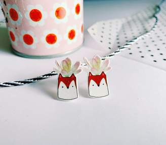 Bea Yuk Mui and the Bear Fox Planter Earrings