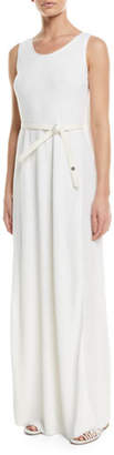 Loro Piana Waiiki Long Linen/Silk Knit Dress