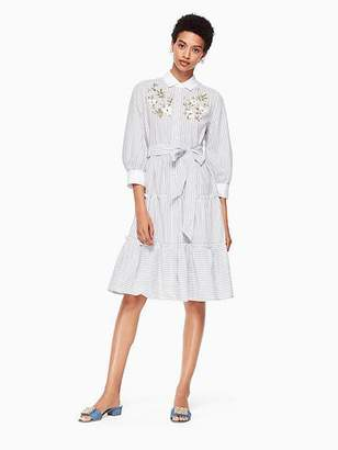 Kate Spade Embroidered puff sleeve dress