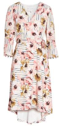 Charles Henry Floral High/Low Dress