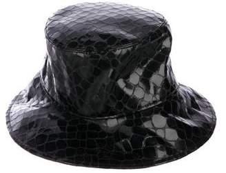Eric Javits Embellished Leather Bucket Hat