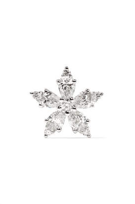 Maria Tash Snowflake 18-karat White Gold Diamond Earring
