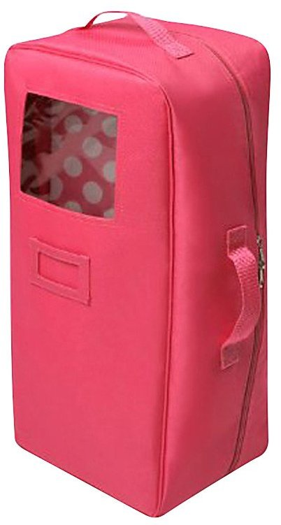 Badger Basket Doll Travel Case With Bed And Bedding - Dark Pink