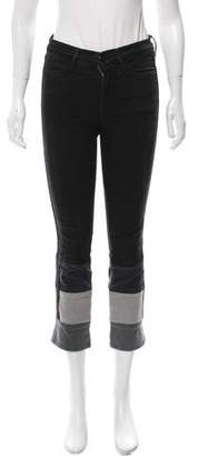 Frame Colorblock Mid-Rise Jeans