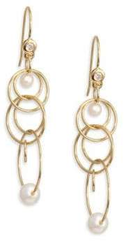 Ippolita Nova Gold& Pearl Matrix Mini Jet Set Earring