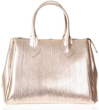 Rosegold Gianni Chiarini Large Fringed Hand Bag