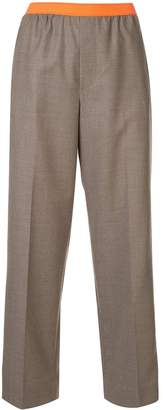 Kolor floral panelled tailored trousers