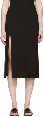Lanvin Black Wool Slit Skirt $1,090 thestylecure.com