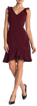 Vanity Room Crepe Ruffle Sleeve Dress