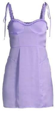 For Love & Lemons Jackpot Ruffle Trim Mini Dress