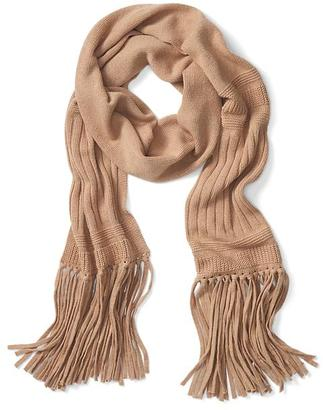 Italian Cashmere Blend Fringe Scarf $88 thestylecure.com