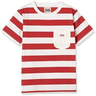 Lee (リー) - [リー] ボーダーTシャツ 半袖 キッズ LK0389 レッド 日本 80 (日本サイズ80 相当)