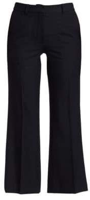 Victoria Beckham Cropped Kick Wool Trousers