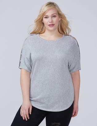 Lane Bryant Grommet Sleeve Pullover Sweater