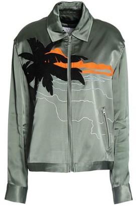 Rag & Bone Embroidered Satin-Crepe Jacket