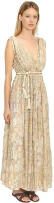 Mes Demoiselles Cotton & Lurex Jacquard Long Dress