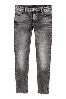 H&M Super Skinny Low Ankle Jeans - Dark gray washed out - Women
