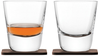 LSA International Whisky Arran Tumbler & Walnut Coaster - Set of 2
