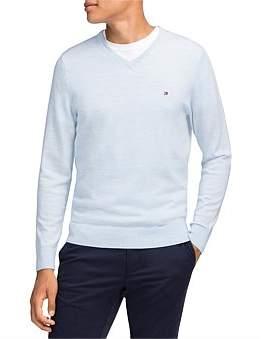 Tommy Hilfiger V- Neck Sweater (Merino Wwol)