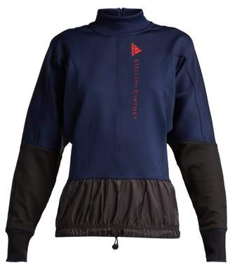 adidas by Stella McCartney Training Contrast Panel Performance Jacket - Womens - Navy Multi