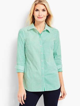 Talbots Classic Casual Shirt - Mixed Stipe