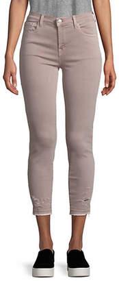 J Brand Mid-Rise Distressed Capri Jeans