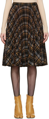 Maison Margiela Multicolor Tartan Pleated Skirt $1,690 thestylecure.com
