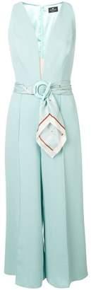 Elisabetta Franchi cropped V-neck jumpsuit